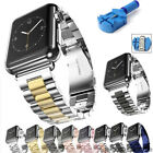 Stainless Steel Metal Link Band For Apple Watch Series 4 3 2 1 Strap Bracelet US image