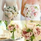 Artificial Fake Hydrangea Peony Silk Flower Bouquet Wedding Bedroom Home Decor