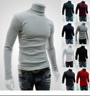 Mens Spring Muscle Tee Cotton Pullover Sweater Tops Turtleneck Blouse T-shirt image