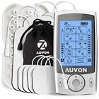 Dual Channel Tens Unit Muscle Stimulator Machine Electrode Pads Rechargeable