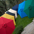 Market Umbrella Classic Wood Wooden Patio 11 Foot Ft New Style Pool Beach Large