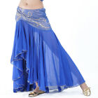 Cheap Sexy Belly Dance Costume Fishtail Skirt Gold Silver sequins Edge