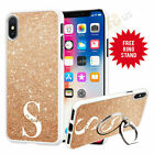 Personalised Phone Case Cover & Finger Ring Stand Holder For Top Mobiles 072-8