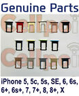 Genuine Original Sim Tray Sim Card Holder For iPhone 5 5S SE 6 6s 7 8 Plus X