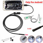 8mm 8LED Waterproof WiFI Borescope Inspection Endoscope Snake Camera For iPhone