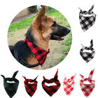 Dog Scarf - Pet Dog Cat Saliva Towel Pet Doggy Classic Triangle Grid Print Scarf