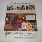 """1948 CORBY'S WHISKEY VINTAGE MAGAZINE AD """"NEEDED SOME GREAT NEW LIARS"""""""