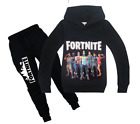 Fashion Kids Boys Fortnite Long Sleeve Shirt Tops+Pants A Suits 6-14 Years #H