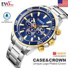 CURREN Luxury Mens Chronograph Automatic Date Stainless Steel Quartz Wrist Watch image
