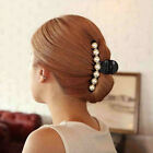 Shiny Imitation Pearl Delicate Hair Claw Clamp Hair Accessories For Ladies Shan