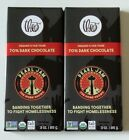 Lot of 2 Theo Pearl Jam The Home Shows 3 Oz. Organic Dark Chocolate Candy Bars