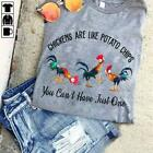 Hei Hei Chickens Are Like Potato Chips You Can't Have Men T-Shirt Sport Grey