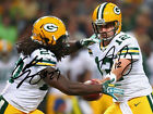AARON RODGERS EDDIE LACY SIGNED PHOTO 8X10 RP AUTO AUTOGRAPHED GREEN BAY PACKERS