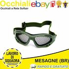 OCCHIALI SOFTAIR STEEL MESH AIRSOFT TACTICAL GOGGLE A RETE NERO VERDE OD TAN