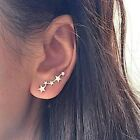 Star Ear Climber Stud Earrings Gold Or Silver Uk