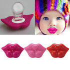 1X Funny Baby Kids Kiss Silicone Infant Pacifier Nipples Dummy Lips Pacifie RDR