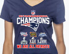 New England Patriots 6 Time Super Bowl Champions NFL Graphic T-Shirt Women's on eBay