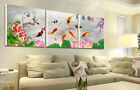 Gifts Wall Art Decor China's Wind Feng Shui Koi Fish Painting printed On Canvas