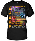 Daddy Avengers Superhero T-SHIRT, Gift For Dad Shirt, Large (Gray or Black)