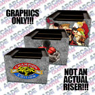Kyпить Arcade1up Cabinet Riser Street Fighter Graphic Sticker Only Variations Available на еВаy.соm