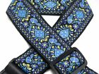 New Retro Vintage Jacquard Woven Acoustic Electric Guitar Strap