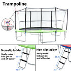 14FT Jumping Round Trampoline Exercise Set Safety Pad Ladder Enclosure Combo