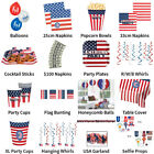 USA AMERICA STARS & STRIPES THEME DECORATIONS - PARTYWARE COMPLETE SELECTION
