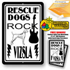 Rescue Dogs Rock Vizsla Man Cave Sign Tin Indoor And Outdoor Metal Novelty Gifts