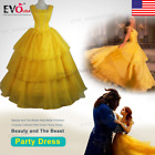 Beauty an The Beast Adult Belle Princess Cosplay Costume Ball Gown Fancy Dress S