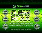 NEW Clean Machine BCAA Coconut Water Natural Pre & Post-Workout EXP 09/19