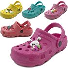 Внешний вид - New Baby Toddler Girls Clog Sandals Cute Soft Rubber Slipper Shoes Size 5 to 10