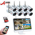 ANRAN Wireless Security Camera System 1080P 8CH with 2TB Hard Drive 15'' Monitor
