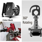 Black Rotated Motorcycle Aluminum Phone GPS Holder Stand Hook for Iphone X XS XR