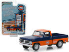 "1971 Ford F-100 ""Gulf Oil"" Pickup Truck Orange and Dark Blue ""Running on Empt..."