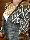 GIMMICKS BY BKE, BUCKLE JEANS, Southwest Style, Fringe Cardigan, XS Barely Worn