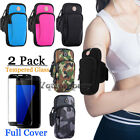 Armband Case Sports Gym Running Jogging Arm Band Phone Holder Bag+Tempered Glass