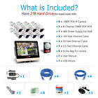 ANRAN 1080p POE Security Camera System Outdoor HomeVideo 4CH 8CH 12LCD HDMI NVR