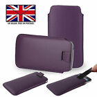 SAMSUNG GALXAY S8 - PU Leather Slim Pull Tab Phone Case Cover Sleeve Pouch