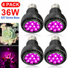 36W LED Grow Light Bulb 12 LEDs Full Spectrum  E27 for Hydroponics Greenhouses