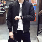 New Men Zipper Casual Work Jacket Fight Bomber Coat Thin Spring Fashion Baseball