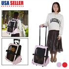 Pet Carrier Dog Cat Rolling Backpack Travel Wheel Luggage Bag Airline  Approved