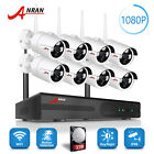 1080P Wireless Camera System Home Security with 3TB Hard Drive 8CH  Waterproof