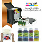 Empty CISS Inkghost compatible with Epson Workforce WF7610 7620 252 sublimation
