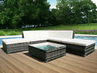 6 Piece Rattan Garden Furniture Patio Corner Sofa Set PE Wicker Steel Outdoor