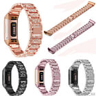 For Fitbit charge 3 /3SE Bling Band Strap Stainless Steel Diamond Bracelet Watch image