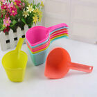 LX_ DOG CAT PUPPY FOOD SCOOP SPADE PET SSOLID COLOR POON FEEDING ACCESSORIES C