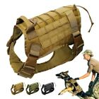 Tactical Trainning Service Dog Harness Nylon Vest with Handle Control Adjustable