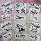 Personalised Hen Party Vinyl Glass Stickers Bride Tribe 5/10/15/20 Vinyl Decals