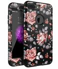 Heavy Duty Case for iPhone 7 plus and iPone 8 plus Shockproof Three Layer Flower