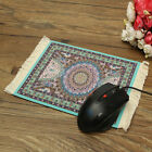 Persian Rug Style Mouse Pad Light Blue Bohemia For Desktop PC Laptop 28cm x 18cm